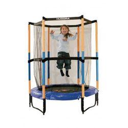 Trampolina 140 cm dla dzieci HUDORA do pokoju bezpieczna niebiesko-żółta
