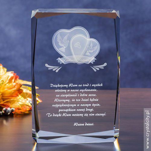 Podziękowania dla rodziców i gości, Podziękowanie dla rodziców »Serca 3D« z Twoją dedykacją • GRAWER 3D