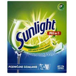 SUNLIGHT 52szt All in 1 Regular Double action Tabletki do zmywarek z ekstraktem z cytryny