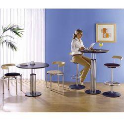 Stół bistro, blat stołu z topalitu, Ø 800 mm, wys. 1100 mm. Blat stołu z łatwego
