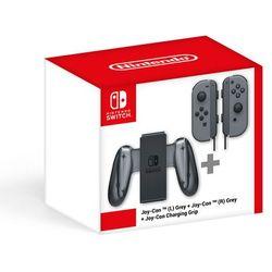 Nintendo Switch Joy-Con (para) szare + Charging Grip - BEZPŁATNY ODBIÓR: WROCŁAW!