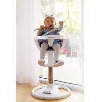 Krzesełka do karmienia, Wysokie obrotowe krzesełko do karmienia FLORA - szare