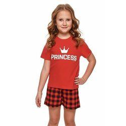 Krótka piżama dziewczęca Princess czerwona