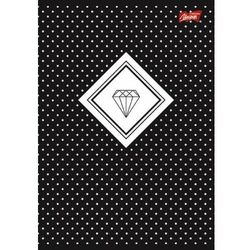 Zeszyt A4 60k krata laminowany DIAMONDS folia soft touch, lakier miejscowy cena za 1szt