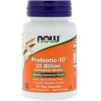 Witaminy i minerały, NOW FOODS Probiotic-10 25 Billion - 50 kapsułek