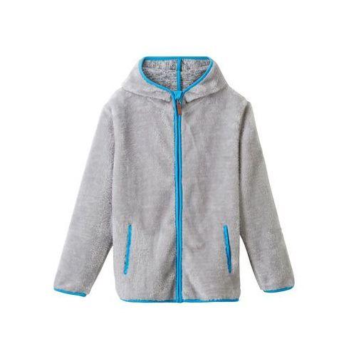 Bluzy dla dzieci, Bluza rozpinana z polaru baranka z uszami bonprix jasnoszary melanż