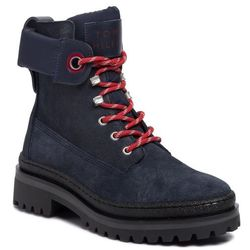 Trapery TOMMY HILFIGER - Sporty Outdoor Lace Up Bootie FW0FW04343 Navy Blazer CHS