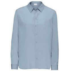 Bluzka satynowa bonprix matowy niebieski