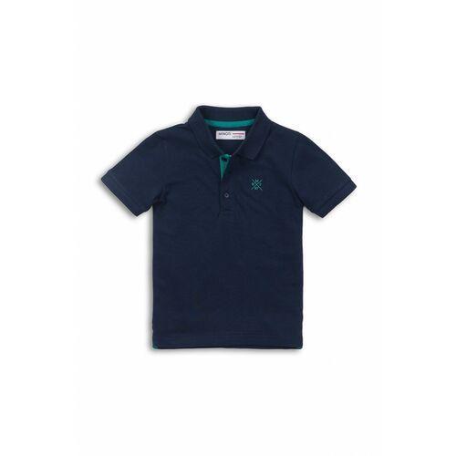 Pozostała odzież niemowlęca, Granatowy t-shirt z kołnierzykiem 5I38BU
