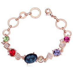 EXCLUSIVE Bransoletka z kryształami kolorowa - KOLOROWA