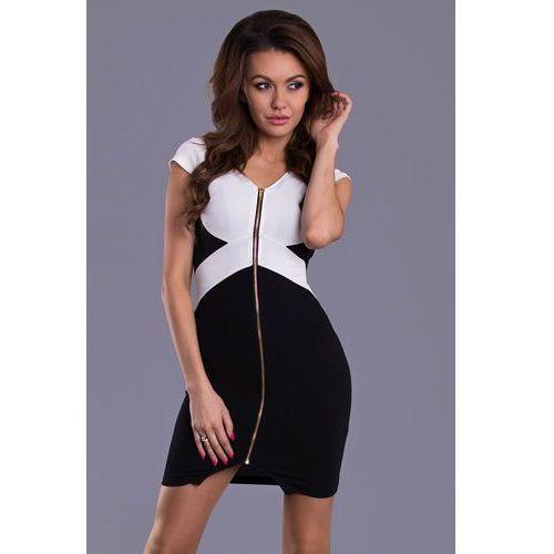 Suknie i sukienki, EMAMODA SUKIENKA - CZARNY 9007-2