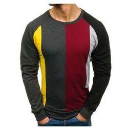 Bluza męska bez nadruku grafitowa Denley 0751