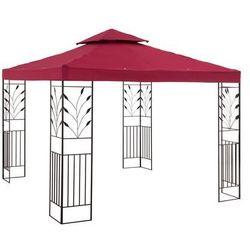 Uniprodo Pawilon ogrodowy - ornament - czerwone wino UNI_PERGOLA_3X3R - 3 LATA GWARANCJI