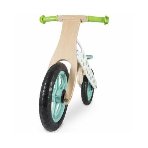 Rowerki biegowe, Rowerek biegowy INDIANA drewniany Zielony DARMOWY TRANSPORT