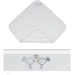 Białe okrycie kąpielowe 100x100 ręcznik z kapturkiem MAXI PLUS