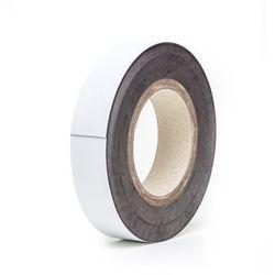 Magnetyczna tablica magazynowa, białe, rolka, wys. 40 mm, dł. rolki 10 m. Zapewn