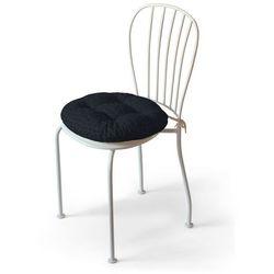 Dekoria Siedzisko Adam na krzesło, grafitowy szenil, fi 40 × 8 cm, Vintage