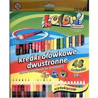 Kredki, Kredki Premium Kolori 24 szt-48 kolorów PENMATE