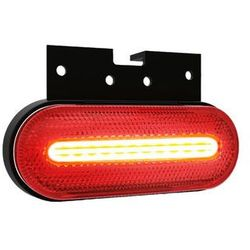 Lampa LED obrysowa czerwona z uchwytem 12V-36V 070CK