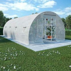 VidaXL Szklarnia ogrodowa, stalowa konstrukcja, 18 m², 600x300x200 cm