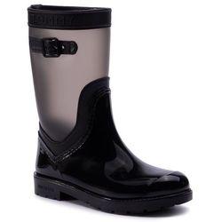 Kalosze TOMMY HILFIGER - Translucent Detail Rain Boot FW0FW04126 Black 990