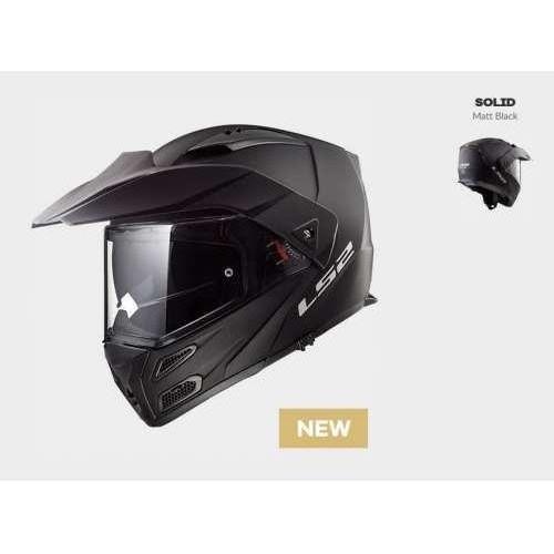 Kaski motocyklowe, KASK LS2 FF324 METRO EVO SOLID MATT BLACK Czrny Matt - model: Rok 2018!