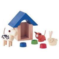 Zabawki z drewna, Drewniane Zwierzątka Domowe z Akcesoriami, PLAN TOYS, PLTO-7314