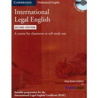 Leksykony techniczne, International Legal English + CD (opr. miękka)