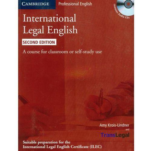 Leksykony techniczne, International Legal English + CD (opr. miękka)