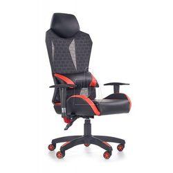 Fotel gabinetowy Halmar Domen czarno-popielato-czerwony