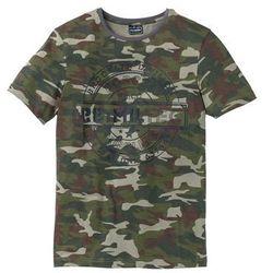 T-shirt Slim Fit bonprix oliwkowy moro