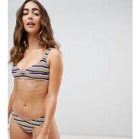 Stroje kąpielowe, Zulu & Zephyr Exclusive Stripe Bikini Top - Purple