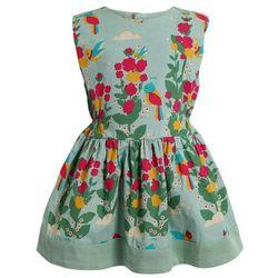 Little Green Radicals ZGREEN PARADISE BIRDS GATHERED DRESS Sukienka letnia turquoise