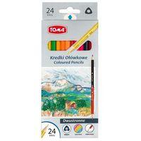 Kredki, Kredki ołówkowe dwustronne 24 kolory TOMA