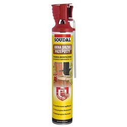 Pianka poliuretanowa z aplikatorem OKNA DRZWI PRZEPUSTY 750 ml SOUDAL