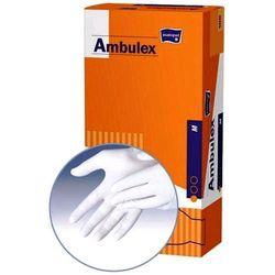 AMBULEX - rękawiczki zabiegowe lateksowe pudrowane - M 100szt.