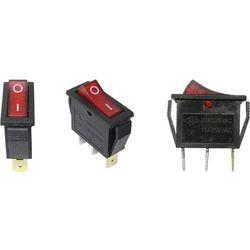 Przełącznik kołyskowy podświetlany pojedynczy 15A 250V MK111 (P003)