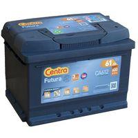 Akumulatory samochodowe, Akumulator Centra FUTURA 12V 61Ah / 600 A niski
