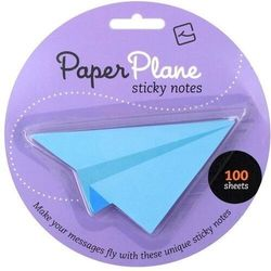 Paper Plane - karteczki samoprzylepne - niebieskie
