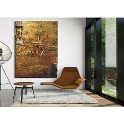 Obrazy nowoczesne - strukturalna abstrakcja - złoto-miedziana fanaberia rabat 15%