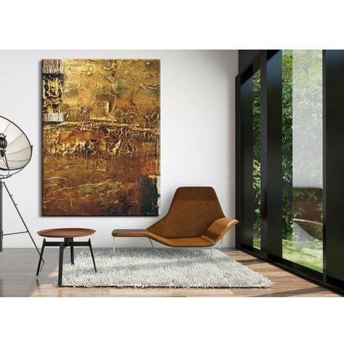 Obrazy, Obrazy nowoczesne - strukturalna abstrakcja - złoto-miedziana fanaberia rabat 15%