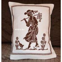 Poszewki, Poszewka na poduszkę, haftowna, wzór mazurski 33x26 (jw-9)