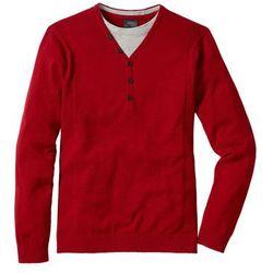 Sweter 2 w 1 Regular Fit bonprix ciemnoczerwony