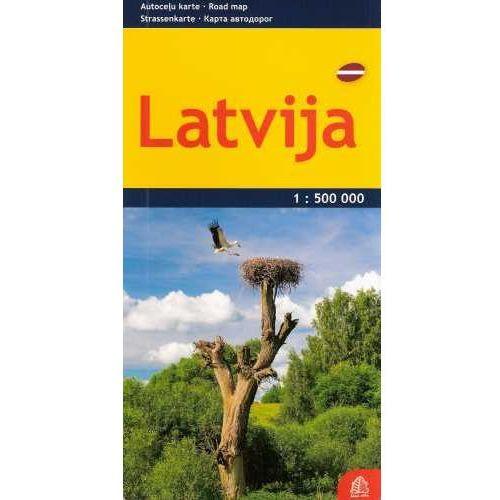 Mapy i atlasy turystyczne, Łotwa mapa 1:500 000 Jana Seta (opr. twarda)
