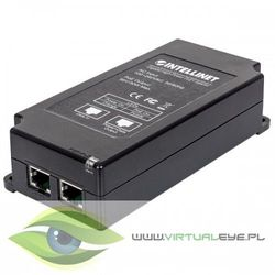 Intellinet Zasilacz PoE PoE/PoE+ 802.3 AT / AF30W 1xRJ45