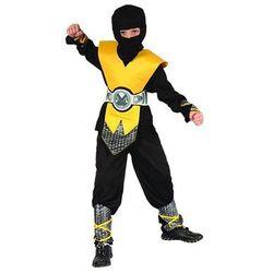 Kostium Ninja żółty lux - L - 130/140 cm