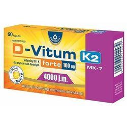 D-Vitum forte witamina D i K dla otyłych osób dorosłych D3 4000 j.m. naturalna K2 MK-7 100 mcg 60 kapsułek Oleofarm