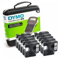 Taśmy barwiące, Zestaw specjalny 10 x taśma 45013 + Drukarka etykiet Dymo LabelManager LM 280 2091152 zestaw walizkowy | KUP z zamiennikami i oszczędzaj! - ZADZWOŃ 730 811 399
