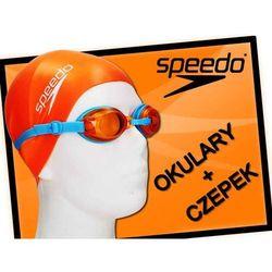 Zestaw okulary + czepek Speedo Jet orange