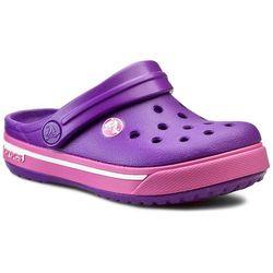 Klapki CROCS - Crocband II.5 Clog Kids 12837 Neon Purple/Neon Magenta
